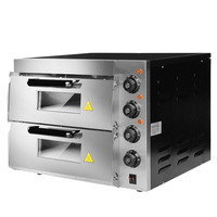HL2PT Commercial Electric Oven Double Cake Bread Big Oven Baking Electric Two layer Pizza High Temperature Kitchen Appliances