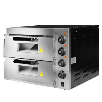 HL2PT horno eléctrico comercial doble pastel pan horno grande horno eléctrico de dos capas Pizza aparatos de cocina de alta temperatura