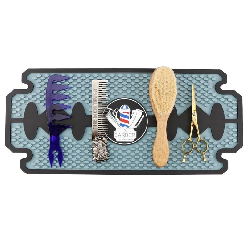Rubber Anti slip Mat Folding Barber Shop Hairdressing Tool Professional Salon Desktop Mat Large Area Keep Tool Neat Non slip MatStyling Accessories   -