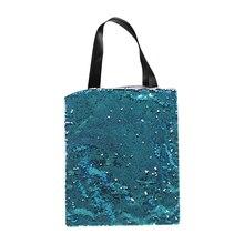 6 шт./лот, стиль, сублимационная Женская пустая волшебная сумка на одно плечо для сублимационной печати чернил, подарки своими руками