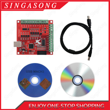 Cnc usb mach3 100 khz breakout placa 4 eixo interface driver controlador de movimento