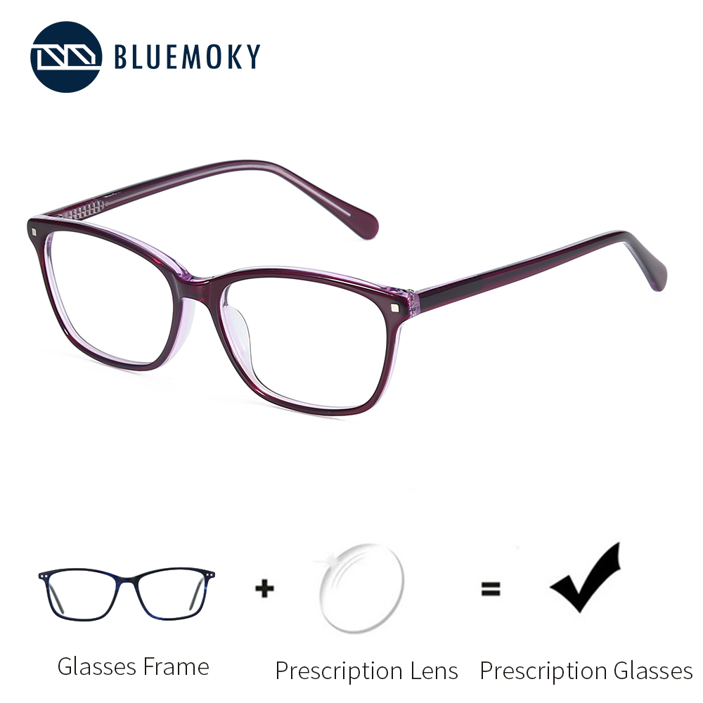 BLUEMOKY Square Prescription Glasses Women Acetate Eyeglasses Progressive Spectacles 2019 Office Eyewear Women Brand New BT3031