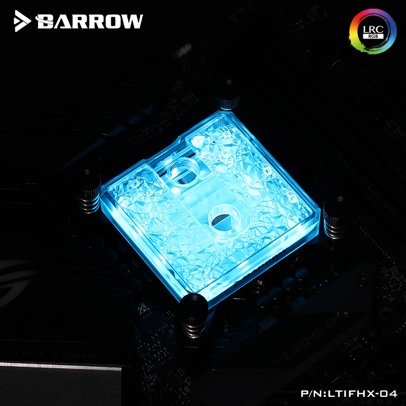 Barrow CPU water cooling block for <font><b>INTEL</b></font> socket <font><b>LGA</b></font> 2011, 5V 3PIN of <font><b>2066</b></font> support synchronous motherboard X99,X299 LTIFHX-04 image