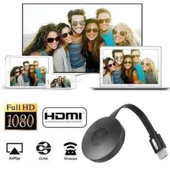 Wireless Display Dongle HDMI Adapter Portable TV Receiver 2.4G WiFi 1080P Airplay Dongle Mirroring Screen Miracast Support