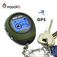 Localizador de rastreador Mini GPS Podofo, receptor de navegación, USB portátil recargable con brújula electrónica para viajes al aire libre