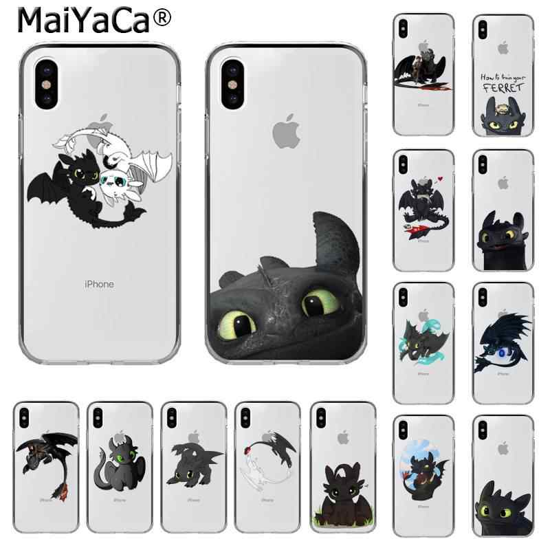 MaiYaCa Toothless How To Train Your Dragon Customer High Quality Phone Case for iPhone 11 pro XS MAX 8 7 6 6S Plus X 5 5S SE XR