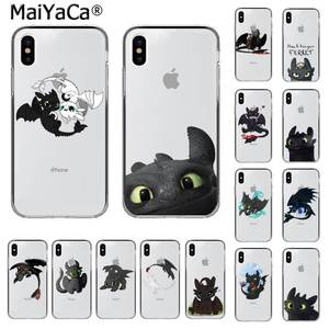 MaiYaCa Toothless How To Train Your Dragon Customer Phone Case for iphone SE 2020 11 pro XS MAX 8 7 6 6S Plus X 5 5S SE XR(China)