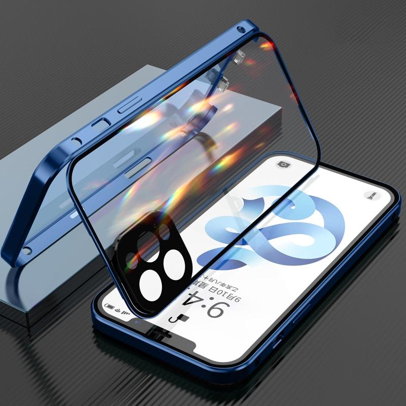 Новый чехол с прямой боковой двойной пряжкой для iPhone 12 мини полноразмерный защитный чехол для камеры для iPhone 11 12 Pro Max чехол