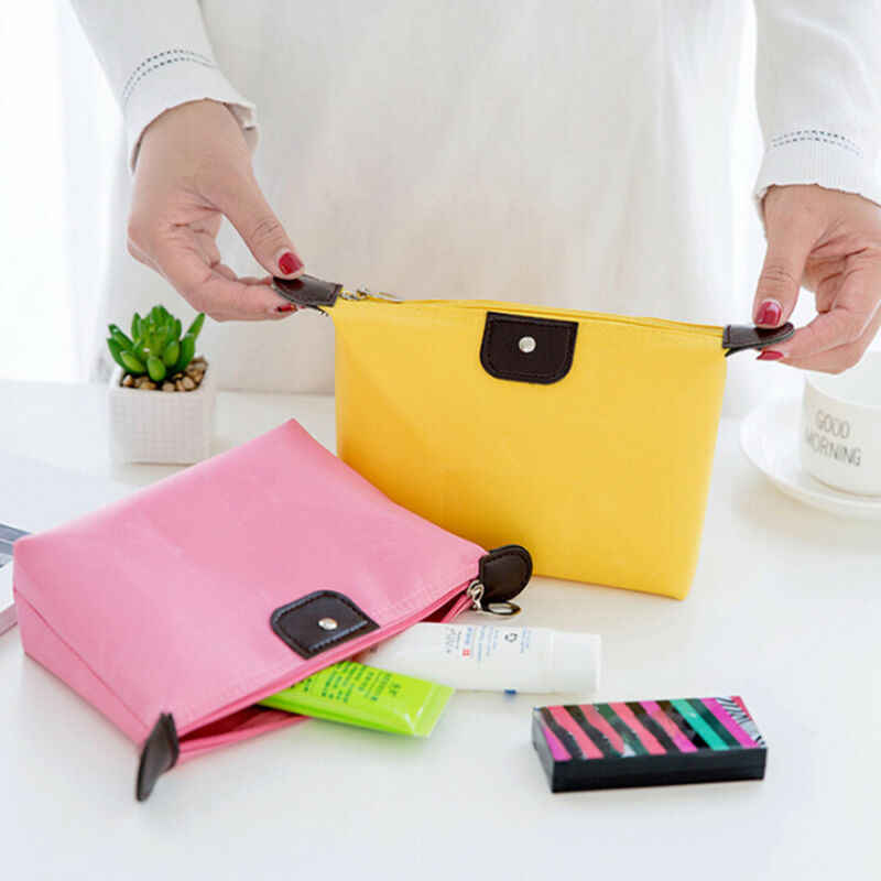 새로운 패션 여성 캔디 색상 방수 메이크업 스토리지 여자 Necessaire 화장품 가방 뷰티 워시 가방 주최자 파우치
