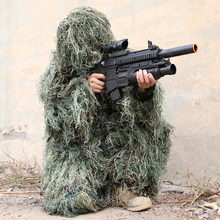Kids Ghillie Suit PUBG Hunting Clothes Camouflage Military Set Camo Poncho Tactical Uniform Sniper Invisibility Cloak lemochic forest ghillie sniper camouflage clothes tactical military suit combat hunting uniform multicam special forces clothing