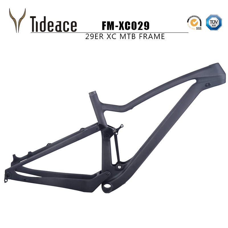 NEW XC029 Full Suspension Mountain Bike Frame 29er Boost Or 27.5er Plus 148mm Mtb Suspension Carbon Frame Accept Custom Paint
