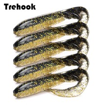 TREHOOK 5pcs/lot Fishing Soft Lures Shad 7cm 2.4g Easy Shiner Silicone Bait Artificial Worm Lure Jigging Wobbler for Fish Bass