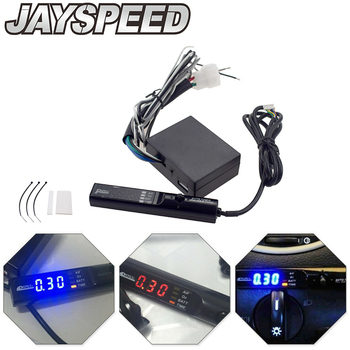JAYSPEED Universal APEXI Auto Turbo Timer NA Black Pen Control Flameout Delay Protector(Red/Blue/White LED Light) image