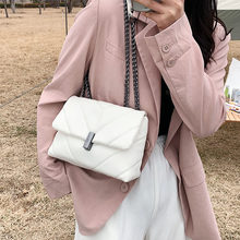 Classic Chain Design PU Leather Crossbody Bags for Women 2021 Fashion Solid Color Shoulder Handbags and Purses Female Hot