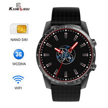 цена на Kaimorui KW99 Pro/H1 GPS Smart Watch Men SIM Card 1G+16GB Heart Rate Bracelet WiFi Sport SmartWatch Connect Android IOS PK KW88