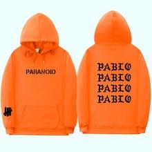 Paranoid Pablo Kanye West Mens Winter Thick Cotton Pullover Hooded Harajuku Streetwear Sweatshirts 3D Hoodies