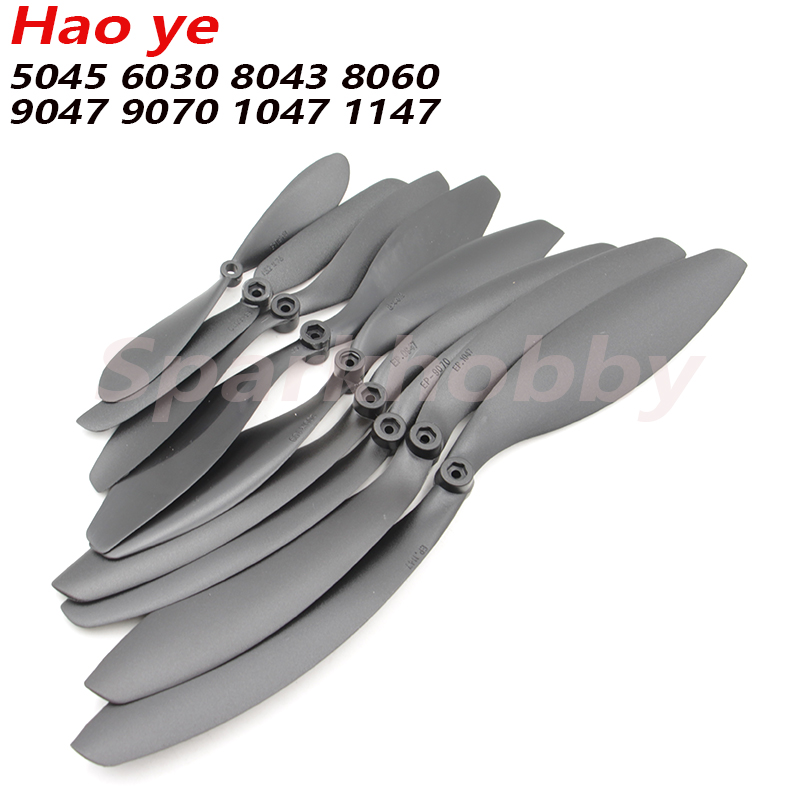 10pcs/lot Hao Ye EP-5045/6030/7060/8043/8060/9047/9070/1047/1147 3mm Hole High-efficiency Slow Speed Paddle For RC Airplane Part