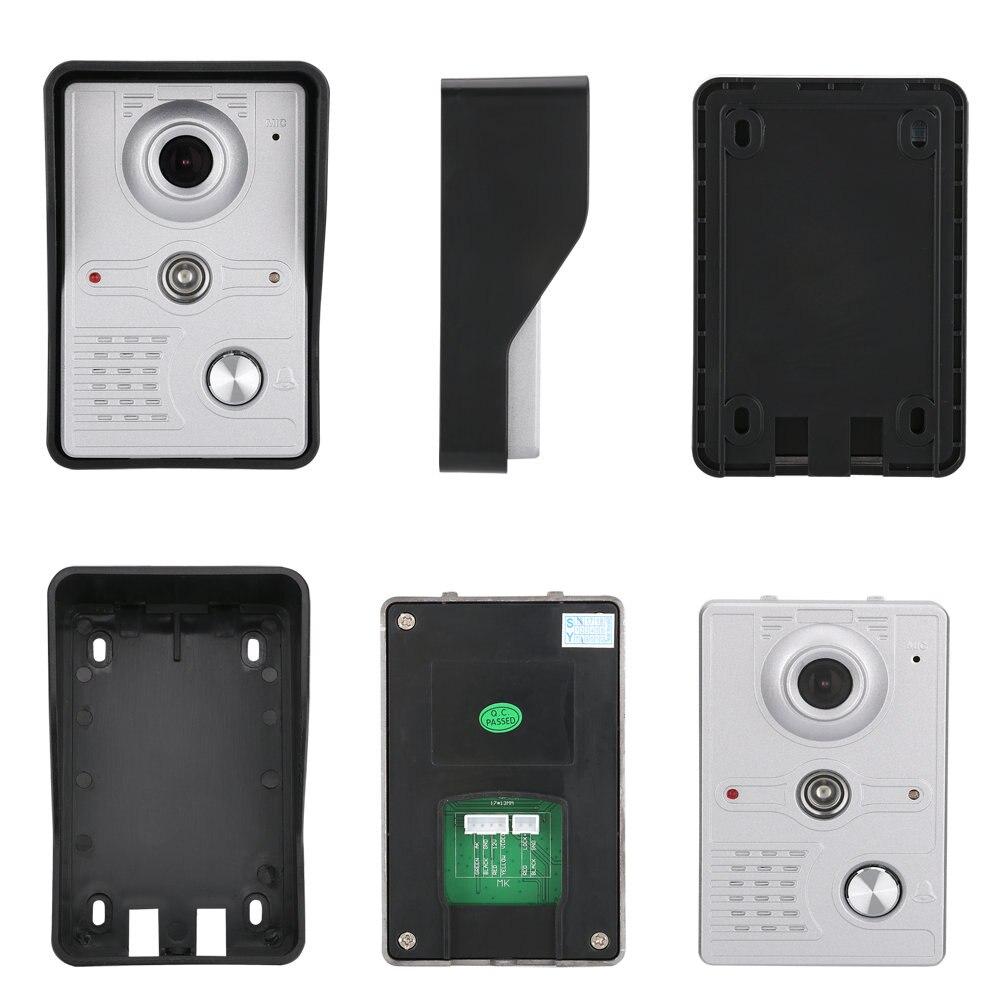 7 дюймов Беспроводной Wi Fi беспроводная IP видео телефон двери внутренной связи Системы с 1x1200TVL проводной дверной звонок с Камера, Поддержка дистанционная разблокировка - 2