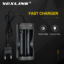 VOXLINK סוללה מטען 18650 האיחוד האירופי Plug 2 חריצים חכם טעינה 18650 סוללה ליתיום נטענת סוללה מטען