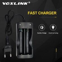 VOXLINK battery charger 18650 EU Plug 2 slots Smart charging  18650 battery Li ion Rechargeable Battery charger