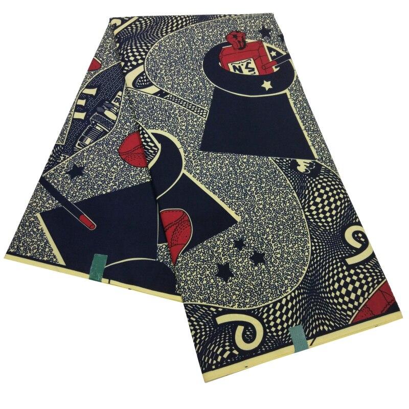 High Quality Europe And American Fashion Fabrics Ankara Modern Print Pagne Batik Textiles For Lady