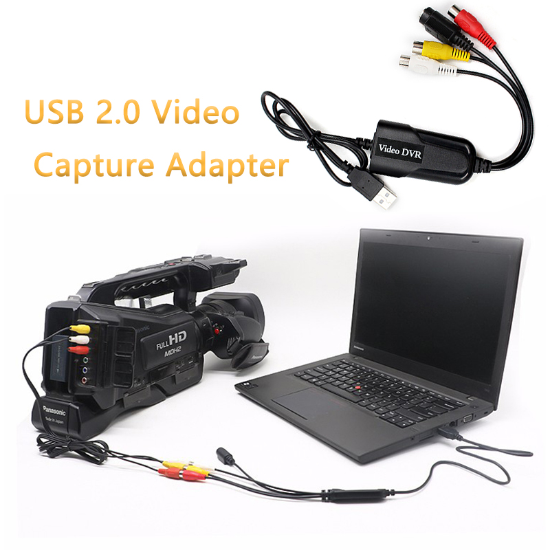 USB 2.0 Video Capture Adapter Card Video DVR 4 Channel Video TV DVD VHS TV  For Win7/8/10/XP/Vista Dropshipping