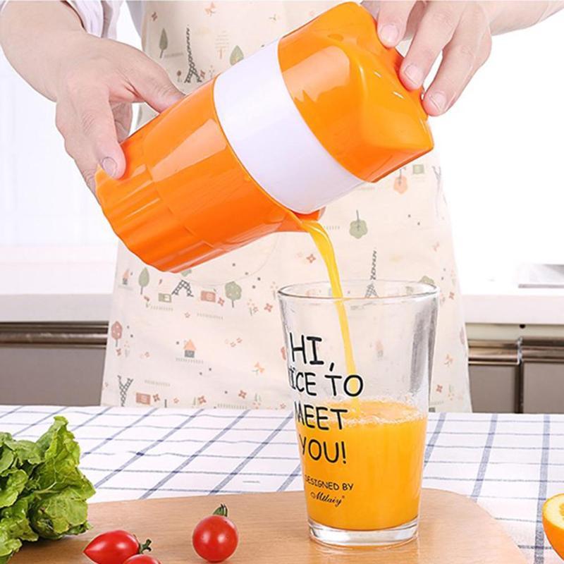 ALLOET 300ml Portable Manual Juicer Cup For Citrus Orange Lemon Fruit Squeezer 100% Original Juice Child Healthy Drink Machine