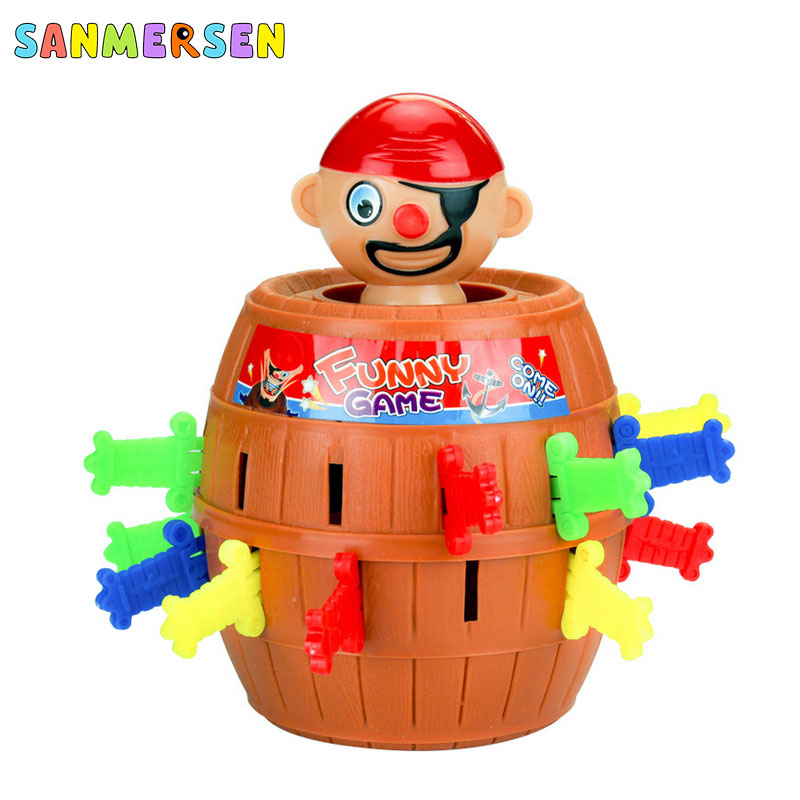 Funny Kids Toy Pirate Barrel Toys Lucky Stab Pop Up Toy Children Interactive Desktop Game Pirate Bucket Plastic Novelty Toys