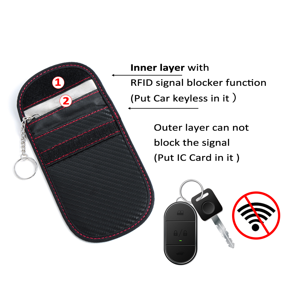 NEW Lock Car Key Keyless Anti-Theft Fob Signal Blocker Pouch Modern Defender