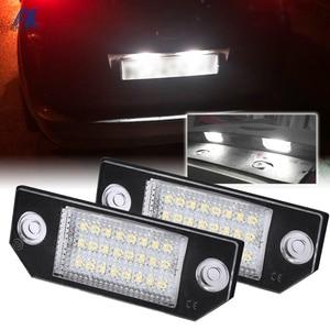 2Pcs LED Number License Plate Light Lamps For Ford Focus C-MAX MK2 03-08 Car Exterior Lighting Accessories Lights 12V