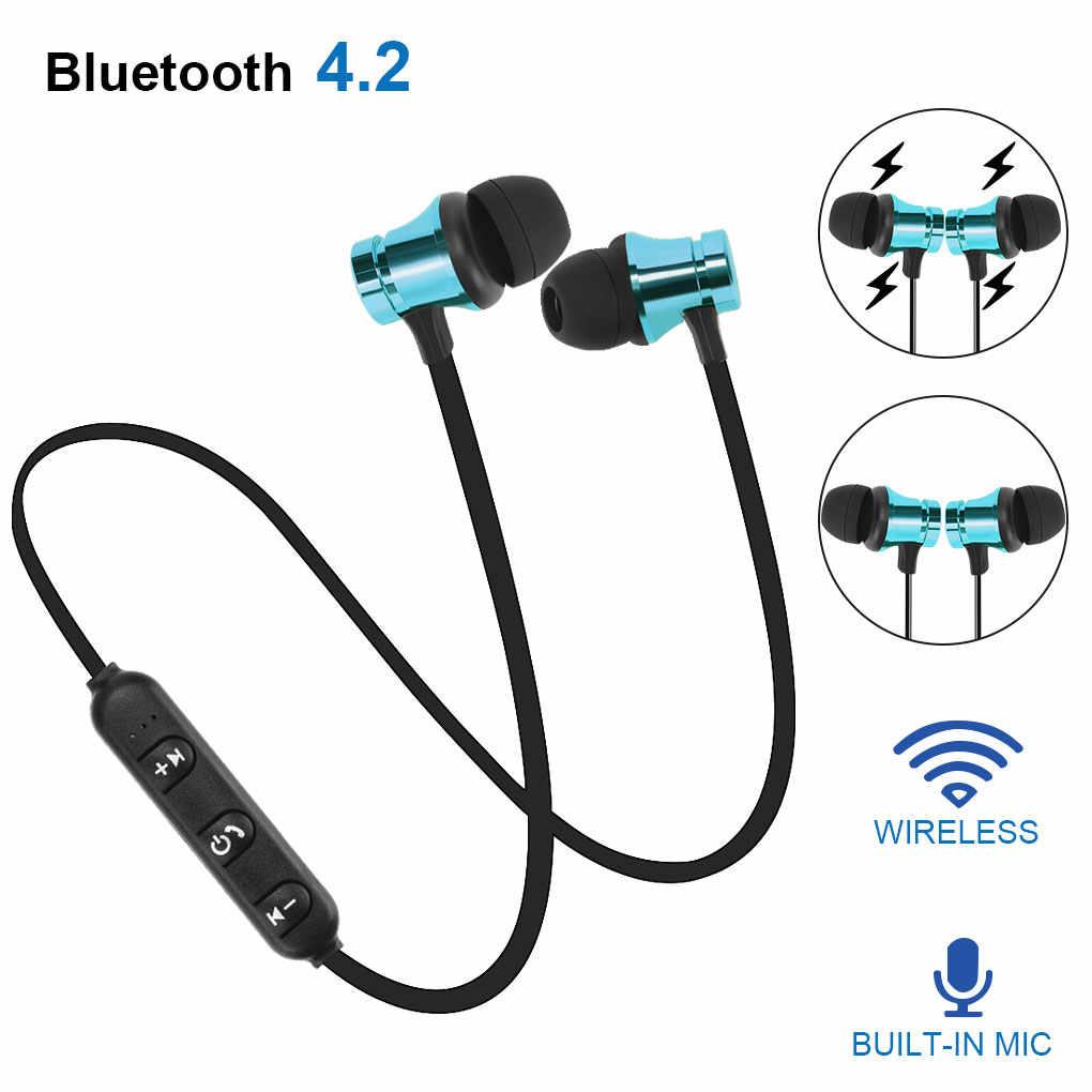Magnetico Senza Fili di Bluetooth Auricolare Stereo Sport Cuffia Auricolare Per il iPhone per Samsung per Huawei Auricolari Impermeabili Con Il Mic