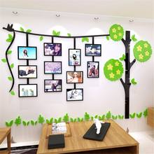 3D DIY Acrylic Wall Sticker Removable Family Tree Photo Frame Wall Decals Poster Art Picture Frame Living Room Wall Home Decor(China)