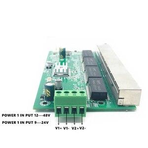 Image 4 - תאורה להגן על יציאת 8 Poe 10/100/1000M תעשייתי מתג gigabit מתג 8 gigabit מתג gigabit מתג ethernet מתג