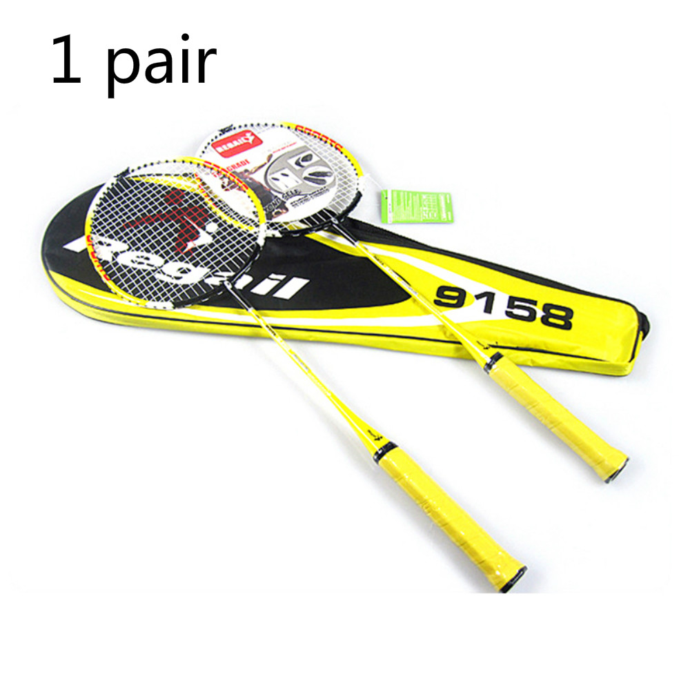 100% NEW Regail 9158 Durable Speed Professional Badminton Racket Battledore Racquet With Carry Bag For Couples Yellow Color