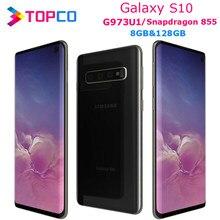 Samsung galaxy s10 g973u telefone celular, original e desbloqueado, snapdragon 855, octa core, tela 6.1