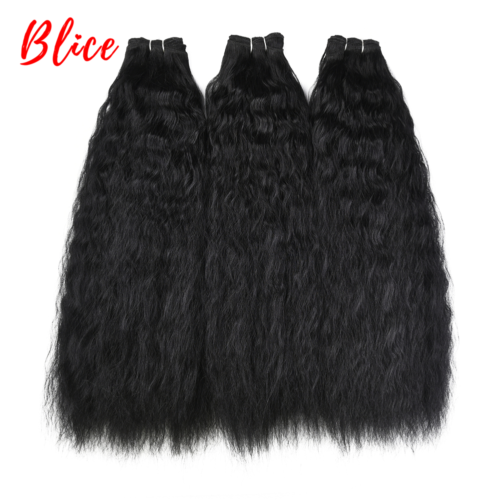 Synthetic-Hair-Extension Weaving Bundle Curly Heat-Resistant Bouncy 18-24inch Kanekalon