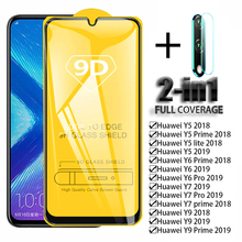 Tempered Glass For Huawei Y5 Y6 Y7 Y9 Lite Y5 Y6 Y7 Y9 Prime 2018 2019 Screen Protector Full Protective Back Camera Lens Film 9d tempered glass for huawei p smart z y6 y9 2019 screen protector y5 y9 y7 2019 y6 2018 nova 3 3i full cover protective film 9