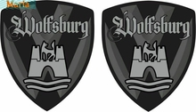 For X2 T4 T5 T6 Transporter Camper Golf Passat Wolfsburg 80mm Wing Decals Stickers JDM JEEP Van Bike Offroad RV A4 Q3 Polo Deco