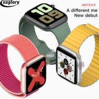 IWO 12 Smartwatch 44mm przypadku smart watch series 5 z 30 zegar twarze dla iPhone Huawei pomoc wiadomość Push aktualizacji IWO 8