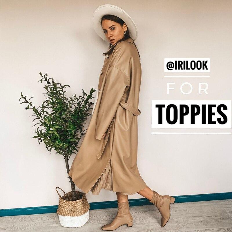 PU Leather Trench Coat Women Oversize Long Coat High Quality Korean Windbreaker Single Breasted Ladies Streetwear