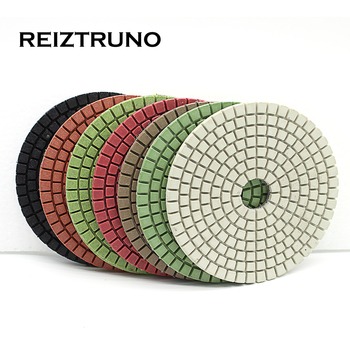цена на REIZTRUNO 1 Piece Diamond Polishing Pad 3/4 Wet Granite Stone Concrete Sanding Disc Marble Grinding Angle Grinder.velcro back