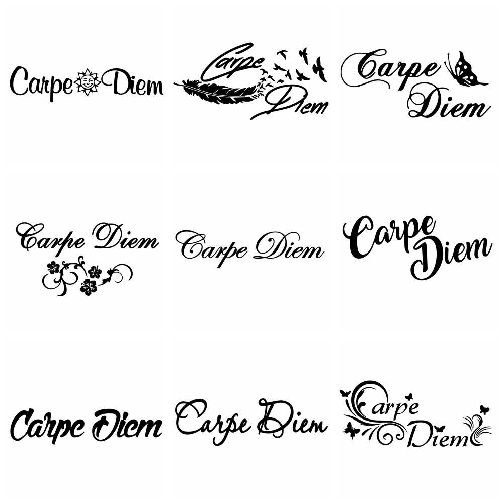 New Design Carpe Diem Car Sticker For Car Side Mirror Rearview Decals Text Stickers Decoration Your Own Personalized Car