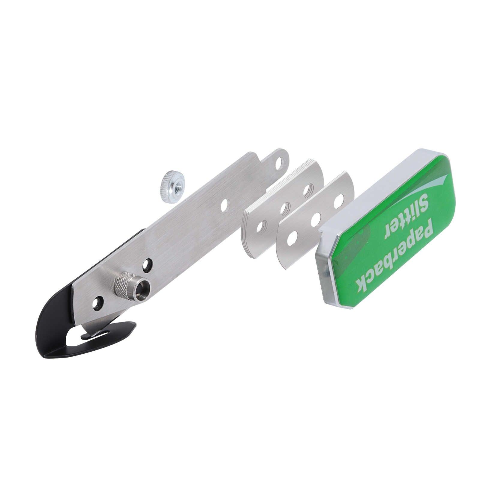 Cuchillo de película de carbono EHDIS, cortador de hoja de vinilo de fibra adhesiva para coche, cortadora de pegatina de recubrimiento completo con caja de almacenamiento, herramienta de corte de teflón de tinte de ventanilla