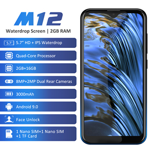 Image 5 - Leagoo M12 Android 9 MT6739ww Quad Core 2 Gb Ram 16 Gb Rom 5.7Inch Ips 3000 Mah 5V /1A Rapid Lading Gezicht Id Mobilephone