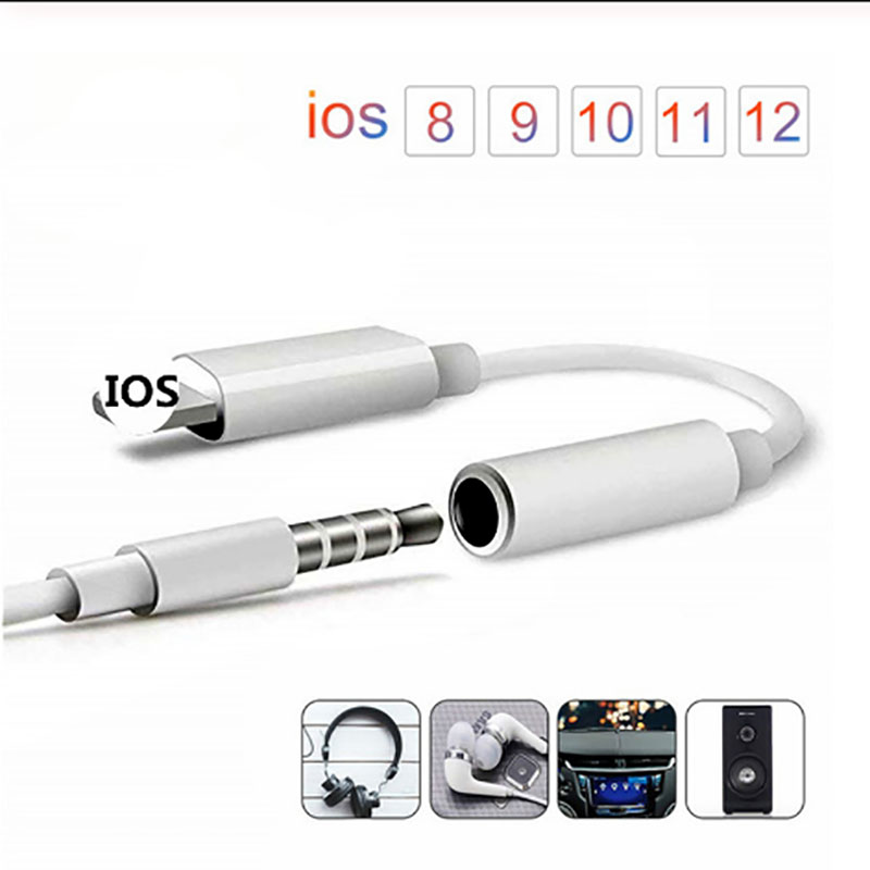 Earphone Audio Adapter Charging Cable Mobile Phone Aux Jack For IPhone 6 6S 7 8 Plus 11 X XR XS MAX For Lighting 3.5mm Splitter