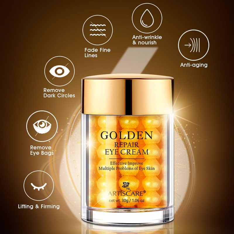 ARTISCARE Golden Repair Crema para Ojos suero de colágeno antiarrugas eliminador de edad ojeras cuidado de ojos contra hinchazón y bolsas