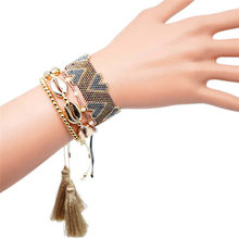 Go2boho Shell Bracelet Delica MIYUKI For Women Bohemian Summer Heart Jewelry Pearl Pulseras Mujer Tassel Handweaving