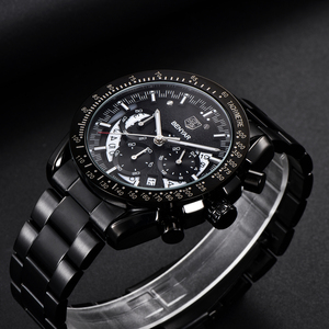 Image 2 - 2020 BENYAR למעלה מותג יוקרה גברים ספורט שעון זכר מקרית מלא פלדת שעוני יד תאריך גברים של קוורץ שעונים Relogio Masculino