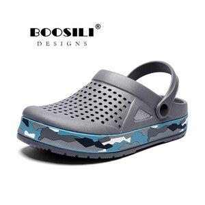 Image 1 - Sapato Feminino חדש Mens Eva סנדל באיכות גבוהה גברים של גן נעלי קיץ סנדלים לנשימה כפכפים קל משקל גדול גודל 45