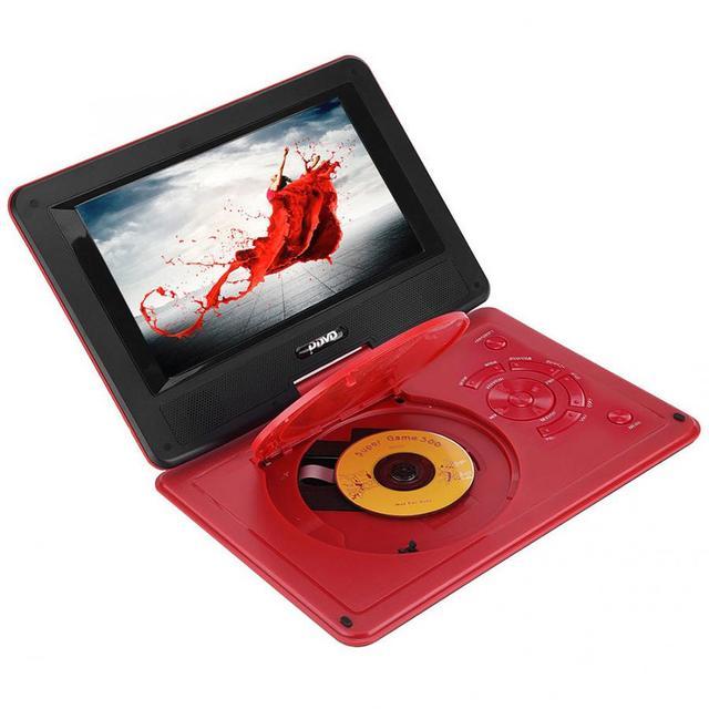 9.8 Inch Draagbare High Definition Swivel Screen Auto Dvd speler Vcd Cd Avi Eu Plug